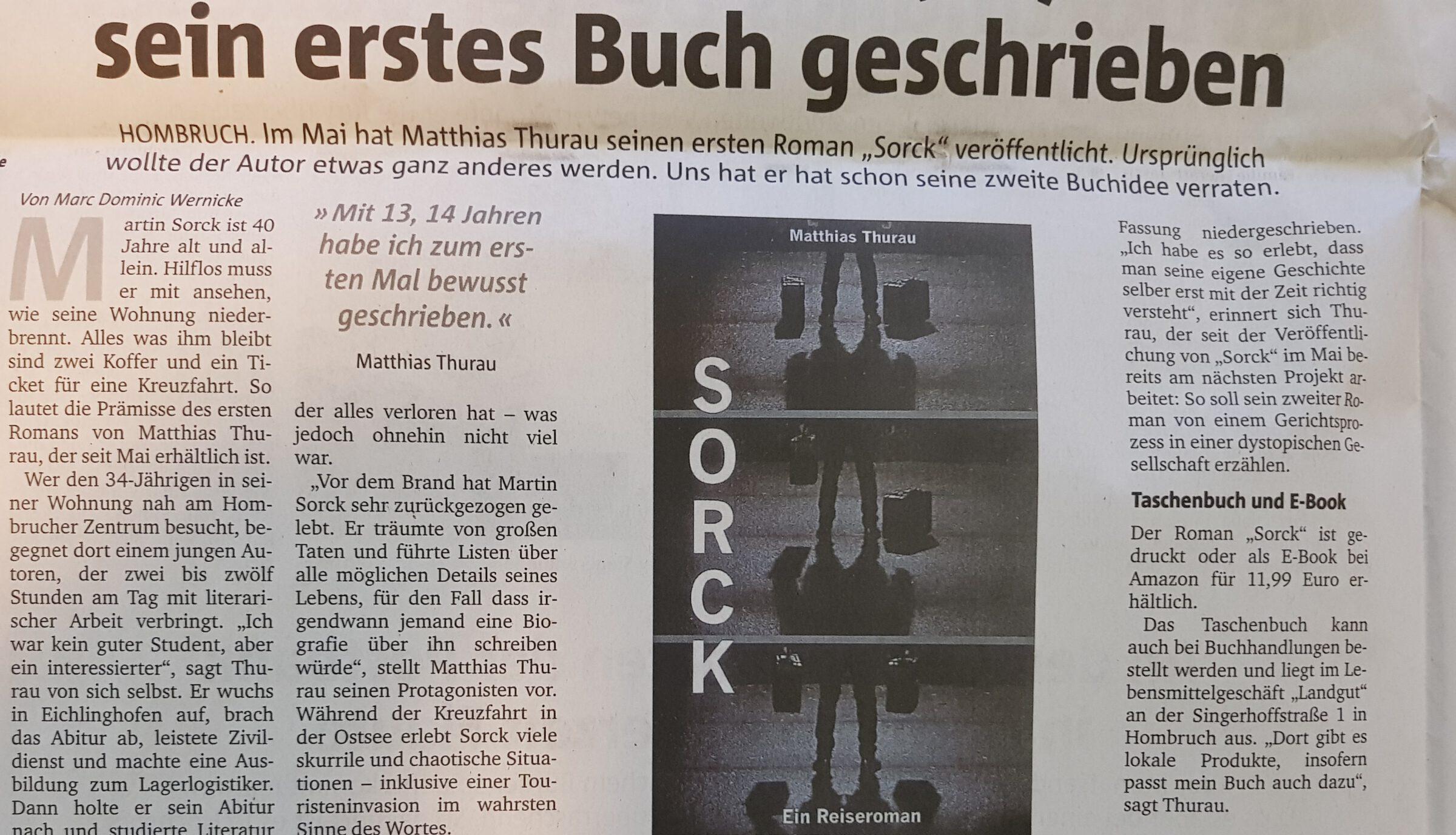 Sorck: Ein Zeitungsartikel