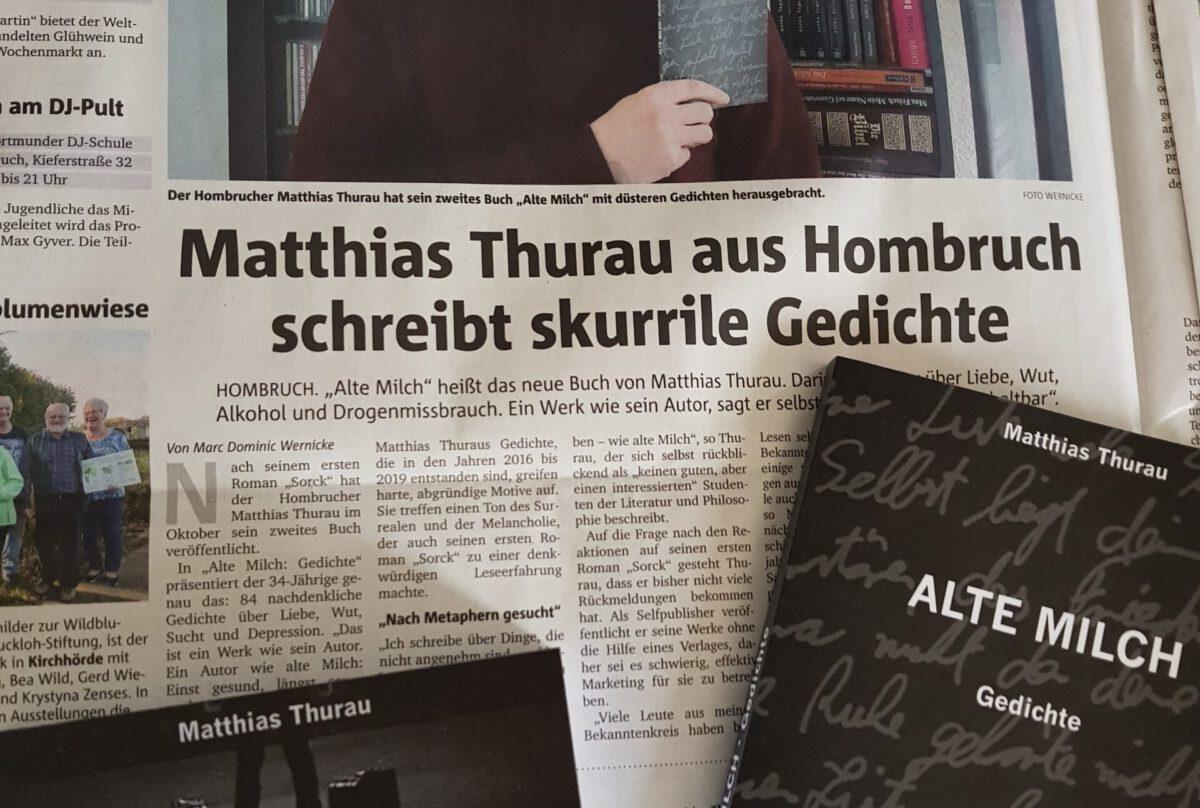 Zeitungsartikel und Eigenwerbung